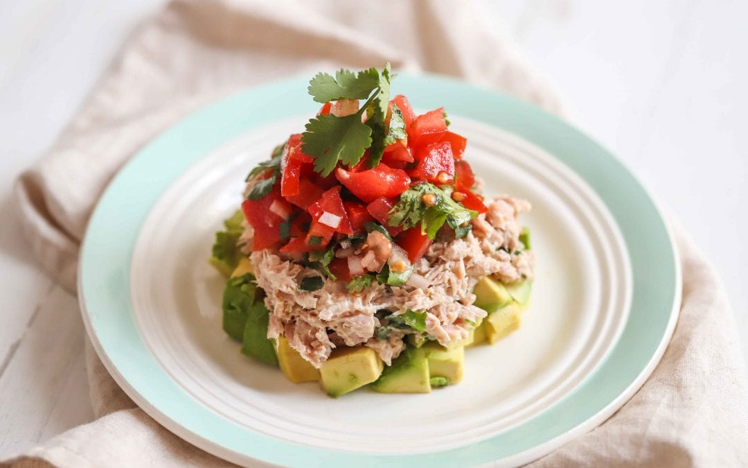 Avocado & Tuna Layered Salad