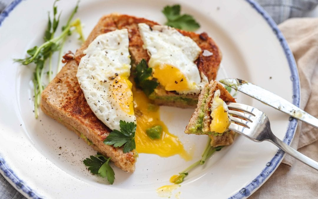 Avocado French Toast with Fried Egg
