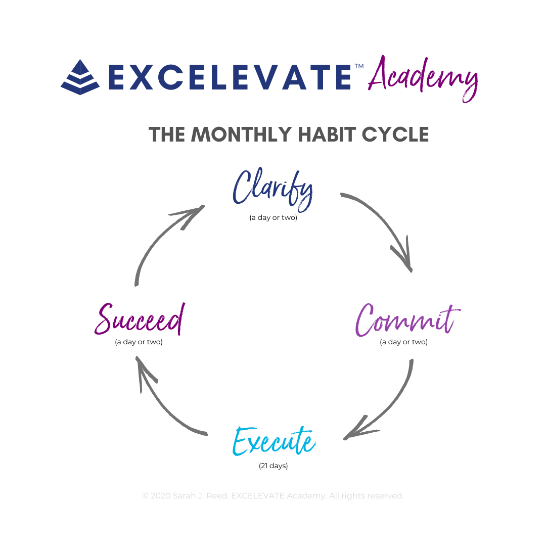 The EXCELEVATE Academy Monthly Habit Cycle