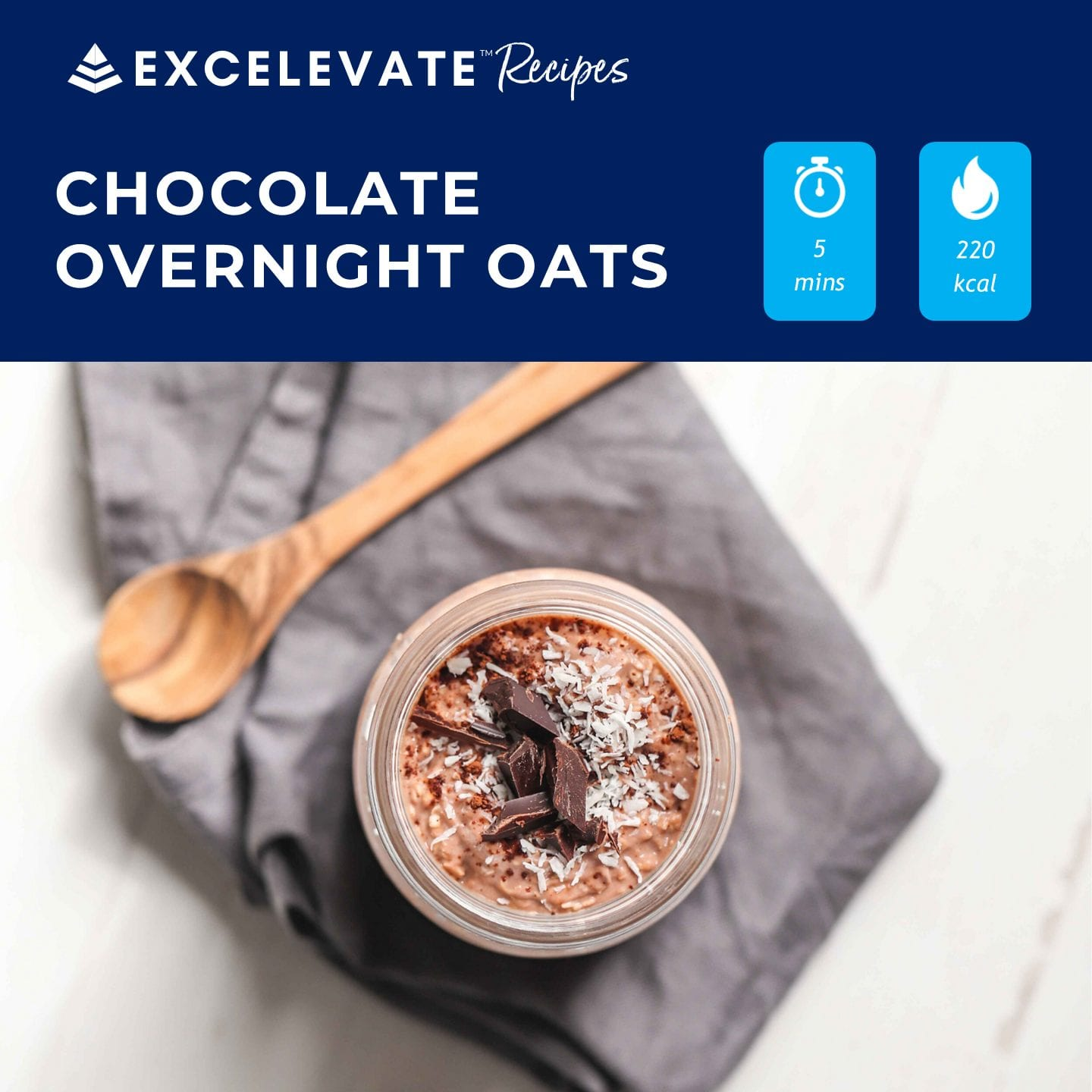chocolate overnight oats sq