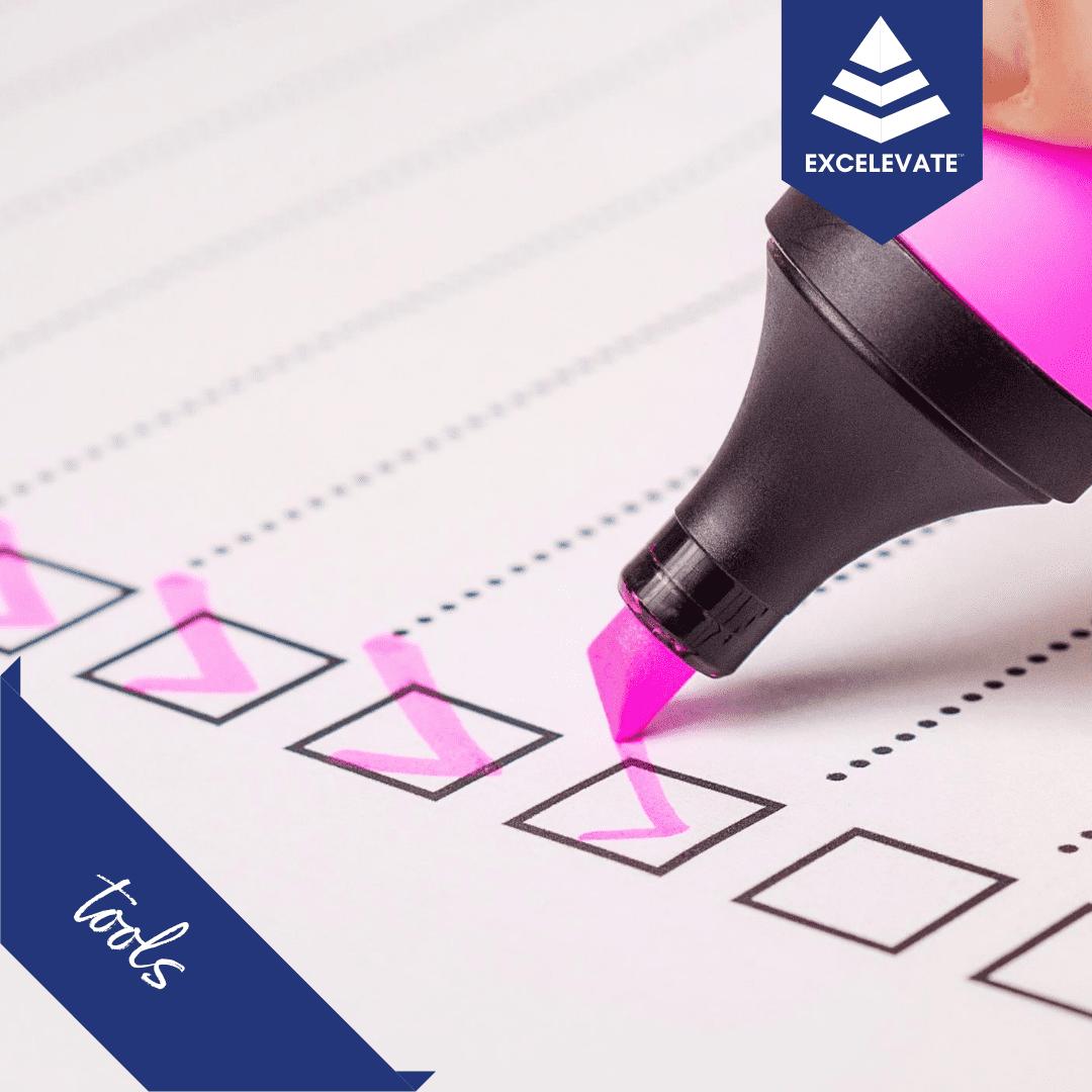 highlighter checklist