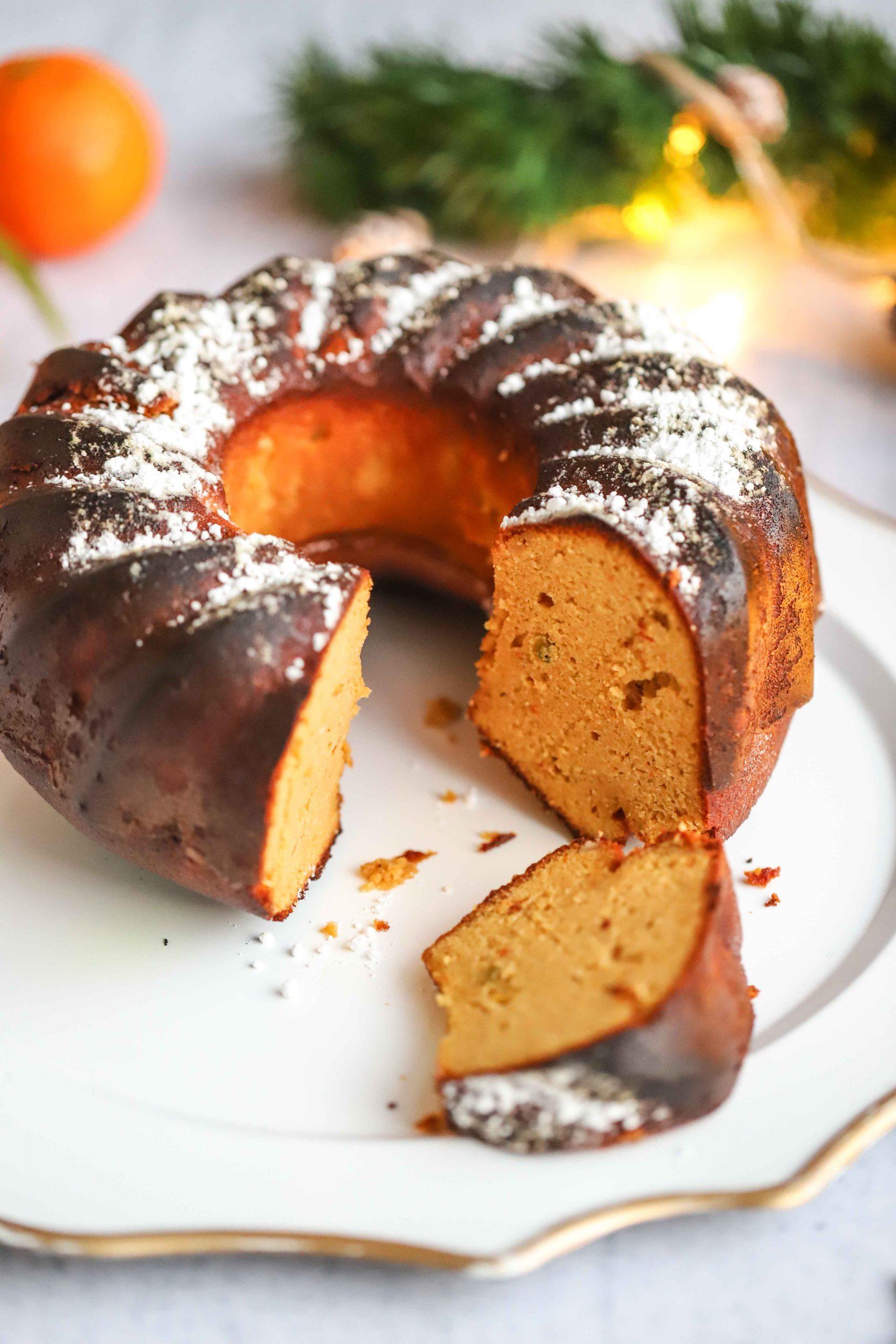 Clementine Almond Bundt Cake