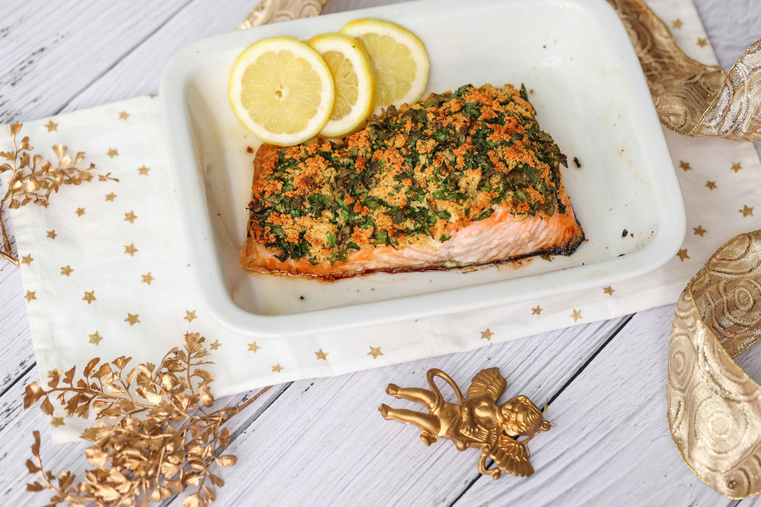 Salmon with herbed crust